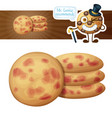cookies with berries cartoon vector image vector image