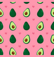 cute beauty avocado and hearts vector image