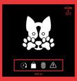cute dog paw - logo symbol protect sign vector image vector image