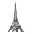 Eiffel tower xs vector image vector image