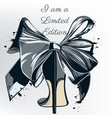 fashion with high heel shoe and bow vector image