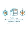 flexible cost advantage concept icon vector image vector image