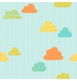 Funny clouds pattern vector image