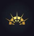 gold abstract sun shine geometry logo vector image vector image