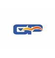 GP letter logo vector image vector image