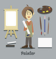 hand drawn painter vector image
