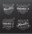 happy valentine s day vintage vector image vector image
