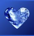 heart shape on blue background artistic creative vector image