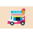 Ice cream truck van vector image