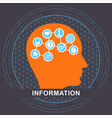 information communication concept vector image vector image