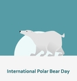 International Polar Bear Day and White bear vector image vector image