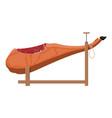 jamon on wooden jamonera vector image