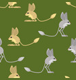 jerboa pattern steppe animal background wildlife vector image vector image