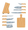 knives cartoon cooking kitchen set vector image
