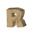 letter r stone font rock alphabet symbol stones vector image vector image