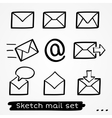 Mail sketch set vector image vector image