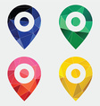 map pin icon Abstract Triangle vector image