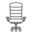 modern desk chair icon outline style vector image vector image