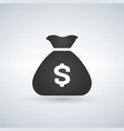 money bag icon on white background vector image