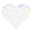 monitor fireworks heart vector image vector image