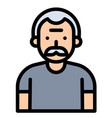 old man avatar filled style icon vector image vector image