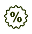 percent sign in bubble line icon discount and vector image vector image