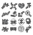 puzzle icons set on white background vector image