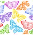 seamless background of butterflies multi colored vector image vector image