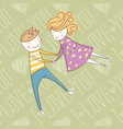 seamless card with couple 12 converted vector image vector image