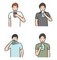 set man drinking vector image vector image