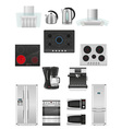 set of kitchen appliances 03 vector image