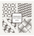 Set of seamless patterns with intertwined vector image