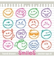 set of smiles vector image vector image