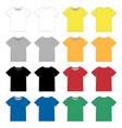 set unisex black t-shirt design template front vector image vector image