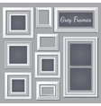 set white and grey frames for your design needs vector image