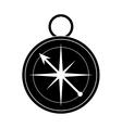 silhouette compass location element camping vector image
