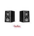 sound speaker loudspeaker icon vector image vector image