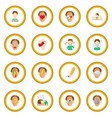 stress icon circle vector image vector image
