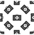 toolbox icon seamless pattern on white background vector image vector image