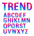 trendy material design letter set vector image