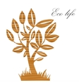 Vecctor summer tree with wood texture on a paper vector image vector image