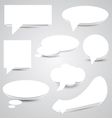 White Paper Speech Bubbles vector image vector image