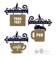 wooden decorative signs vector image vector image
