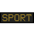 yellow button board word sport vector image