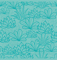 blue seamless repeat pattern with growing vector image