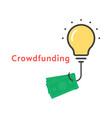 crowdfunding icon with outline bulb vector image
