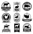 Farm animal vintage meat butcher shop vector image