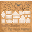 Blank borders and grunge rubber stamps vector image