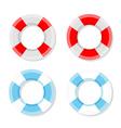 Lifebuoy isolated set vector image