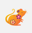 2020 new year chinese rat zodiac vector image
